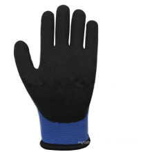 NMSAFETY double blue liner coated nitrile foam thermal gloves