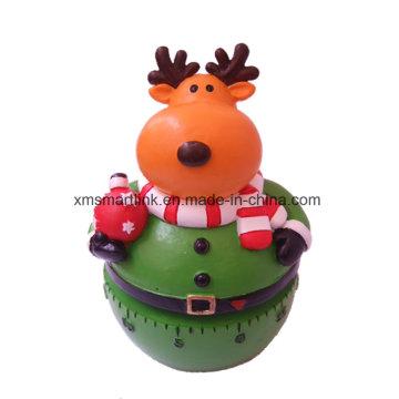 Christmas Elk (Reindeer) Kitchen Timer, Christmas Countdown Timer