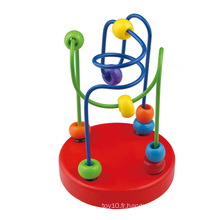 2016 New Arrival Kids Wooden Mini Bead Maze Baby Educational Toy
