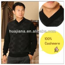 Мода 2014 мужская Кашмир свитер V шеи