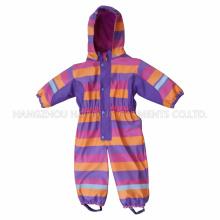 PU Stripe Conjoined Raincoat / Geral para Crianças
