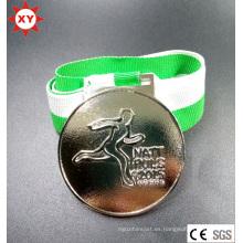 Medalla personalizada de metal deportivo con Ribboon