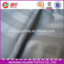 Juegos de cama de hotel jacquard satin stripe 100% tela de algodón