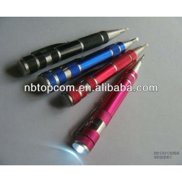 led aluminum alloy pen light&flashlight&torch multi tool led flashlight