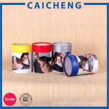 Горячий продавая Выдвиженческий круглый бумажный цилиндр Упаковывая коробка подарка пробки