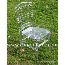 Прозрачный пластиковый стул из смолы Napoleon для свадеб и торжеств (YC-P23)