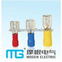 Hersteller Messing Flachsteckerklemme, isolierte weibliche Trennschalter