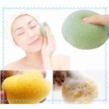 100% éponge de Konjac de forme moulue naturelle originale / éponge de nettoyage du visage de Konjac