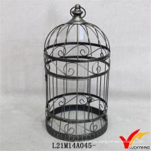 Patrón de desplazamiento Shabby y Chic Round Metal Indoor Bird Cages