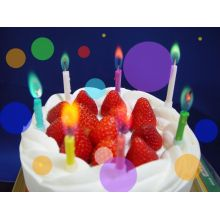 Color flame birthday candleCheap Scented Candles