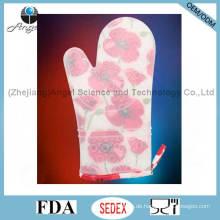 Heißer Verkaufs-langer und starker Silikon-Handschuh für das Kochen und das Backen Sg22