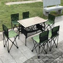 Table Folding Table With Chair 7-Piece Outdoor Camping Folding Table Chair Set