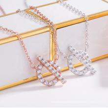 Southeast Asia hot sale ins same necklace gold-plated diamond necklace letter Q pendant