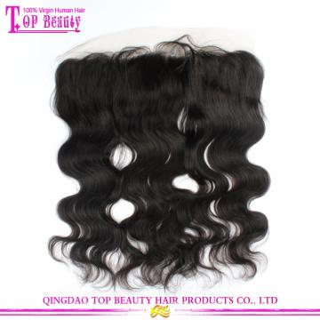 Venda quente da 6a série não transformados cabelo humano indiano virgem corpo onda cheia do laço fechamentos do laço Frontal fechamentos