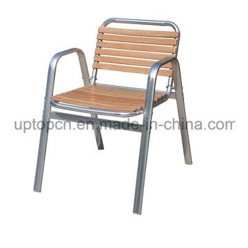 Оптовые продажи древесины алюминиевая Труба стул Кафа для сада (СП-OC714)