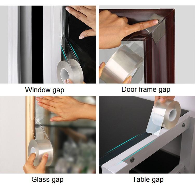 Waterproof transparent caulk tape for Kitchen Bathtub