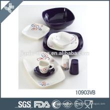 Vajilla de porcelana de porcelana china elegante al por mayor