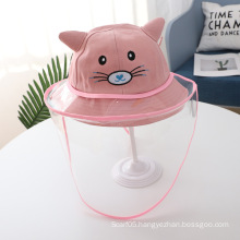Pink Cat Anti-droplet Hat for Children