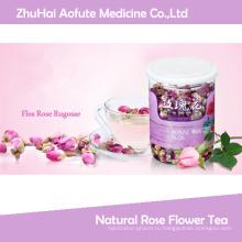 Натуральный чай с розовыми рогозами и розовым цветком