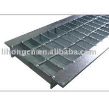 Trincheras de metal, trincheras de acero, canal de rejilla, cubierta de canal