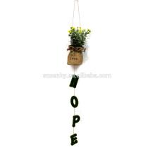 Plantas colgantes artificiales al aire libre decorativas