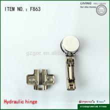 Gabinete de puerta de cristal hidráulico suave cerrar tipos de bisagra