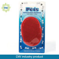 pet dog rubber grooming brush