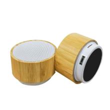 Subwoofer Mini Loudspeaker Portable bamboo Wireless smart Speaker wooden Portable Wood Bass Audio Box Small  speaker