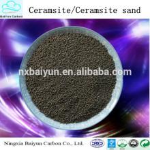 Matériaux de traitement de l'eau Ningxia fabrique du sable de ceramsite / ceramsite