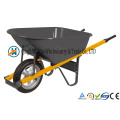 6 Cubic Foot Steel Wheelbarrow with Never Flat Tire
