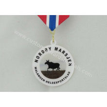Offset Printing Brass Custom Awards Medals , Sports Medals And Ribbons