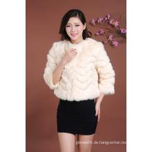Der heiße Verkaufs-Dame Mini Art- und Weisekurzschluß-Mantel-Pelz-Surcoat