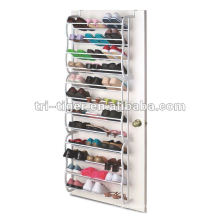 Hot Sale 36 Pairs Metal and Plastic Shoe Rack
