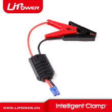 Emergency car battery booster 12v portable power pack with smart battery clamps