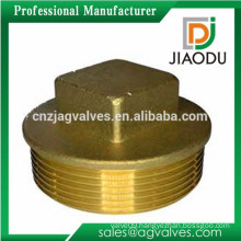 1/2'' or 3/4'' or 1'' forged npt threaded brass flanged plug for pipes