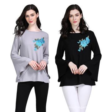 Solid Color Ethnic Muslim Short Clothing Slim Abaya Women Dress