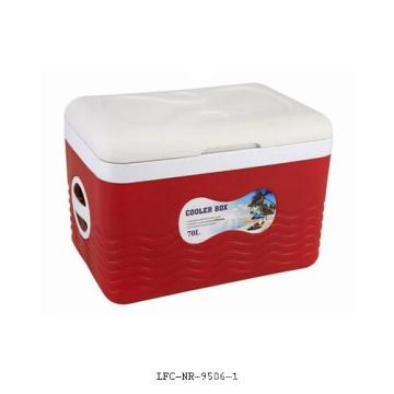 Boîte de refroidisseur de roue de 70 litres, refroidisseur en plastique, refroidisseur de canette de bière