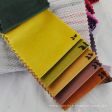 Wholesale polyester velours tissu pour veste