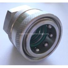 Acoplador de liberação rápida de aço inoxidável da arruela da pressão 3 O.Ring 3/8 de BSP fêmea