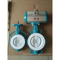 PTFE Lined Two PCS Butterfly Valve