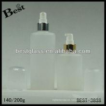 140/200 ml, pp / botella de la loción del cuerpo del animal doméstico, botella cosmética de acrílico de la forma redonda