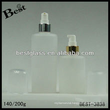 140/200ml,pp/pet body lotion bottle,round shape acrylic cosmetic bottle