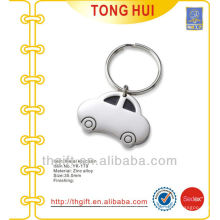 Blank compact car shape pendant keyrings metal
