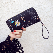 Schöne Sterne Printing Frauen Brieftasche niedrigen Preis Damen Geldbörse