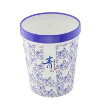Blauer und weißer Porzellan Kunststoff-Abfall Müllbehälter (FF-5211)
