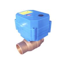 Válvula eléctrica de larga duración CWX-60P gran par motor para tratamiento de agua