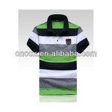 13PT1009 Herren Baumwolle abgestreift Mode T-Shirt Polo