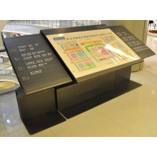 Centro comercial alumínio Metal pavimento piso comercial tipo diretório Signage
