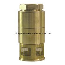 Válvula de retención de latón Zcheng con válvula de pie de filtro de muelle Zcfv-01