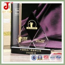 Trofeo de cristal grabado de la tienda de fábrica